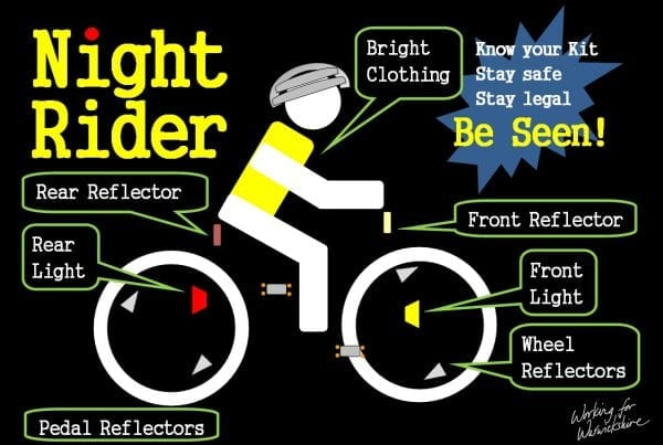 be seen on bikes