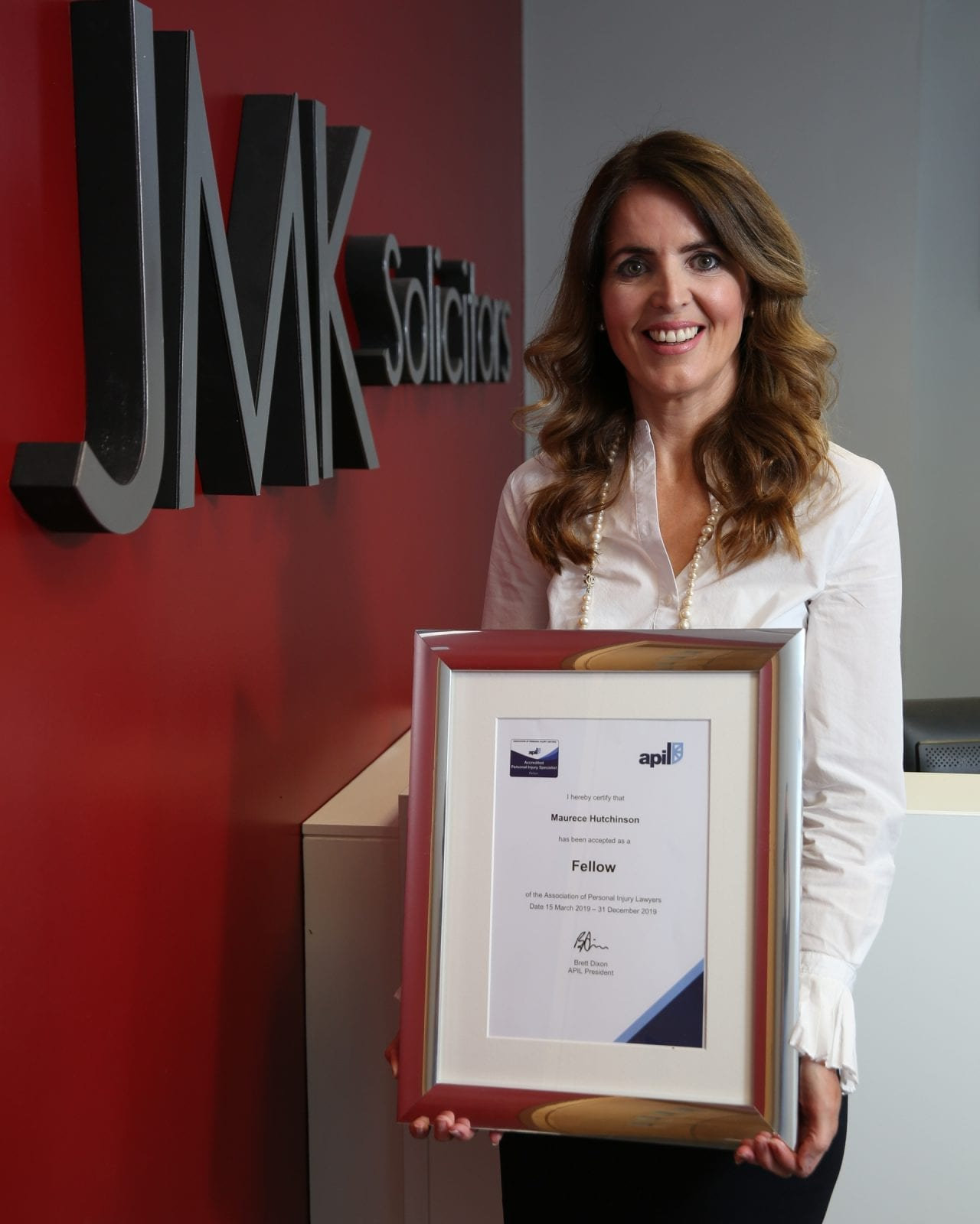 JMK Solicitors Managing Director awarded Industry APIL Fellowship