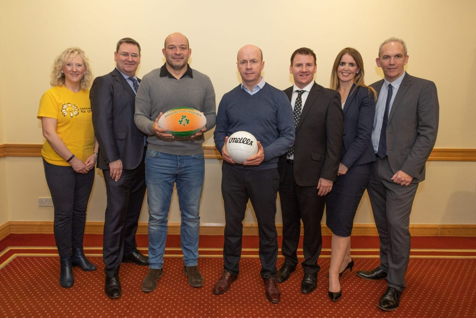 Rory Best & Peter Canavan celebrating An Evening of 2 Halves with JMK Solicitors and CRASH Services