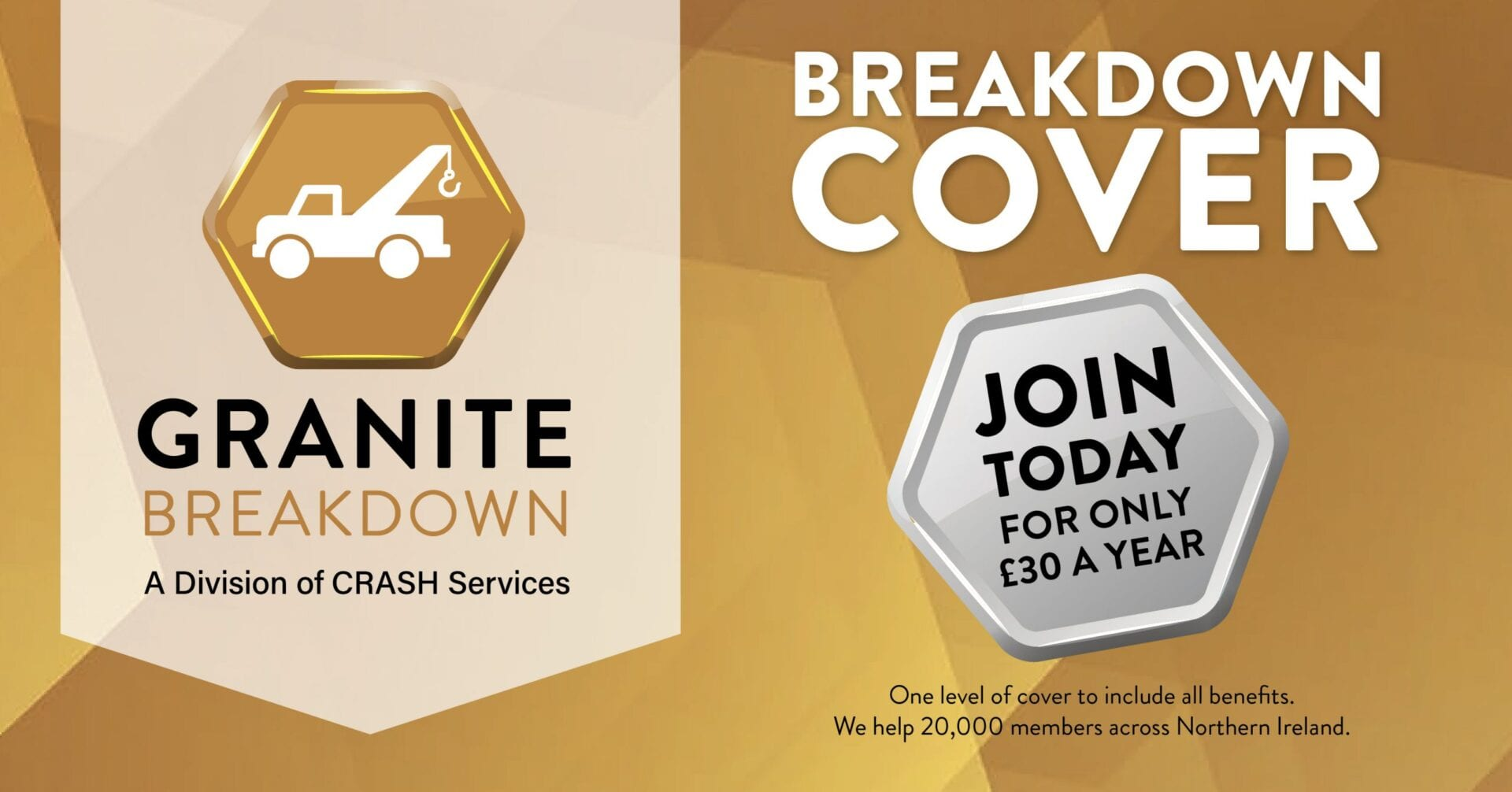Granite Breakdown cover - Join today for only £30 a year