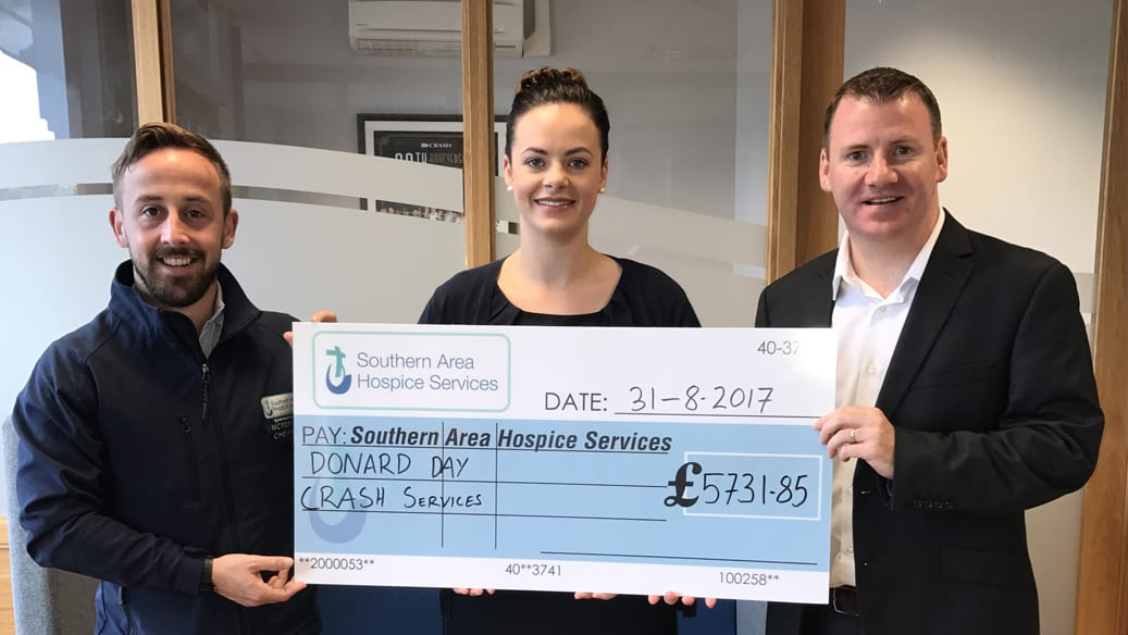 cheque presentation for southern area hospice