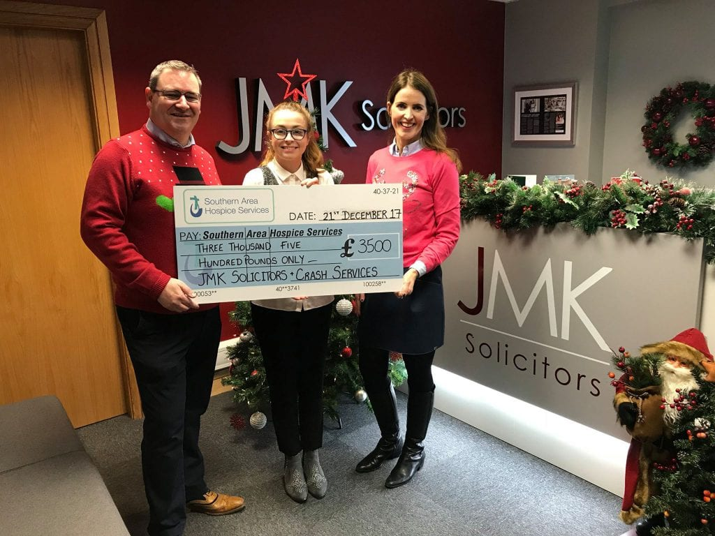 Cheque presentation to Southern are hospice