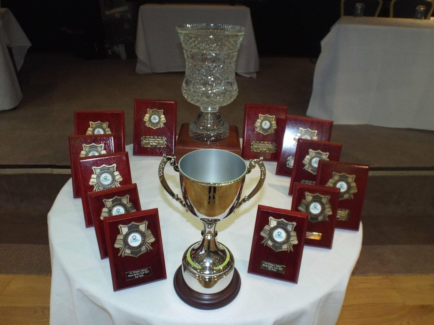 trophies from road safety quiz