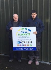 d whyte & sons car body specialists working in association with crash services