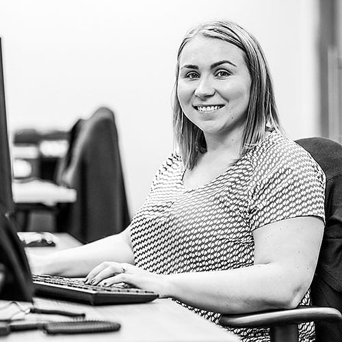 Anna Johnston part of the claims team at CRASH Services