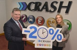 Jonathan Mckeown and Michelle Murphy presenting 20% reduction in staff hours - CRASH Services