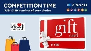 WIN £100 Voucher of your choice with CRASH Services