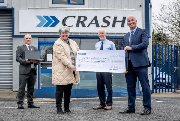 Crash Services donates to Derry school equipment scheme