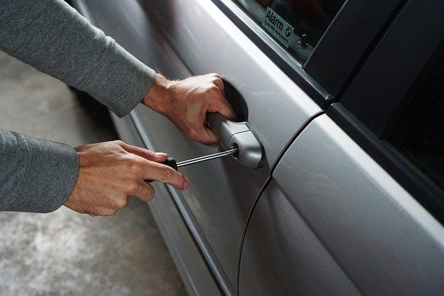 Car theft in the UK (Northern Ireland) keyless cars